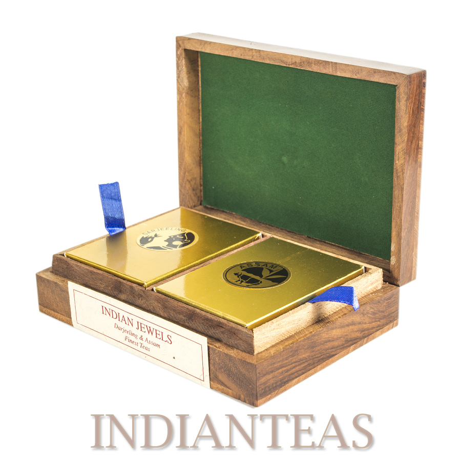 Rosewood Elephant Tea Caddy 2 in 1